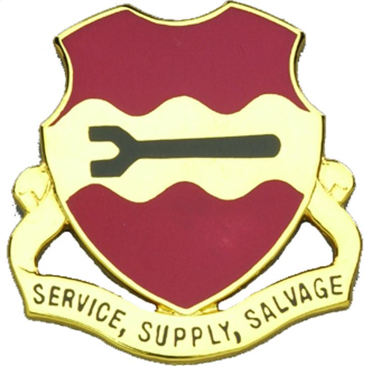 735th Maintenance Bn Unit Crest (Service Supply Salvage)