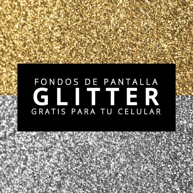 Fondos de pantalla de glitter gratis para tu celular