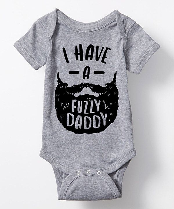 Look at this Athletic Heather 'I Have a Fuzzy Daddy' Body Suit - Infant on #zulily today!