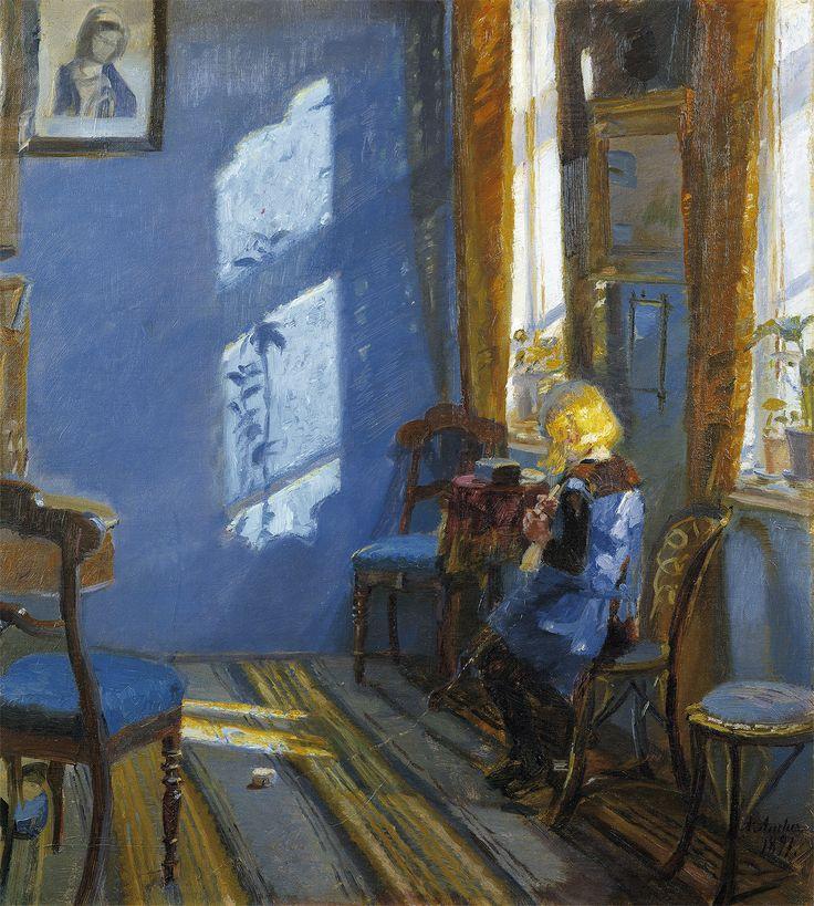 Solskin i den blå stue - Skagens Kunstmuseer