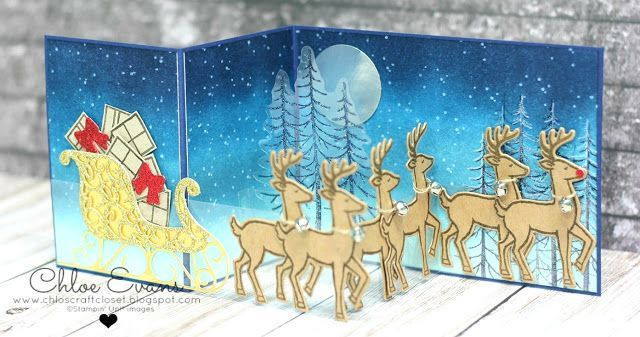 Santa's Sleigh - Holiday Catalogue Sneak Peek. Oh my.. what an amazing card for that extra special person.