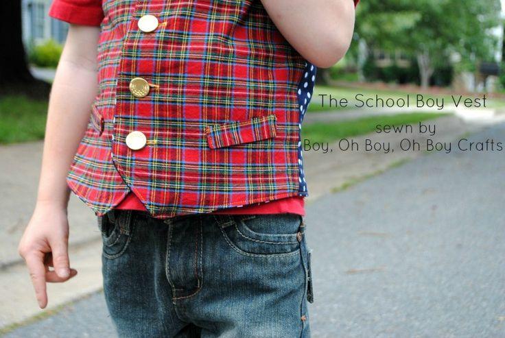 Boy, Oh Boy, Oh Boy Crafts: Perfect Pattern Parcel #4: The School Boy Vest