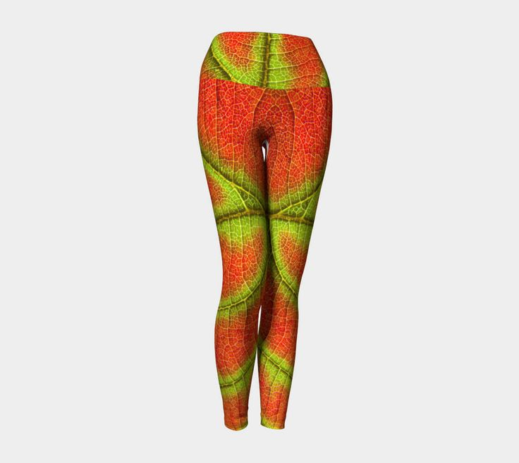 Leggings-High-quality-fall-leaf-orange-green-high fashion-pants-colourful-gift-yoga-stretchy-clothing-workout-dressy-fashionable by EvlogiaCustomDesigns on Etsy