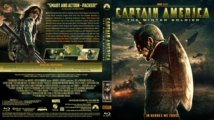 Captain America The Winter Soldier Blu-ray Custom Cover