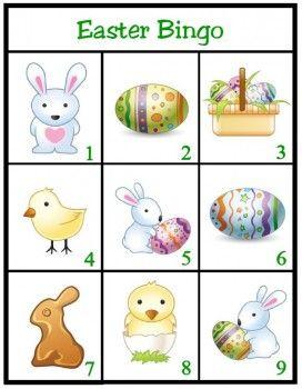 Free Easter Bingo Printable