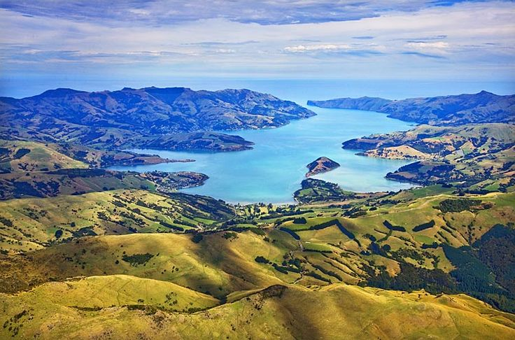 Banks Peninsula,  Akaroa Harbour, see more, learn more, at New Zealand Journeys app for iPad www.gopix.co.nz
