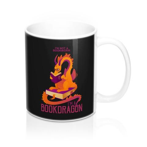 Bookdragon Mug 11oz – The Printed Fox