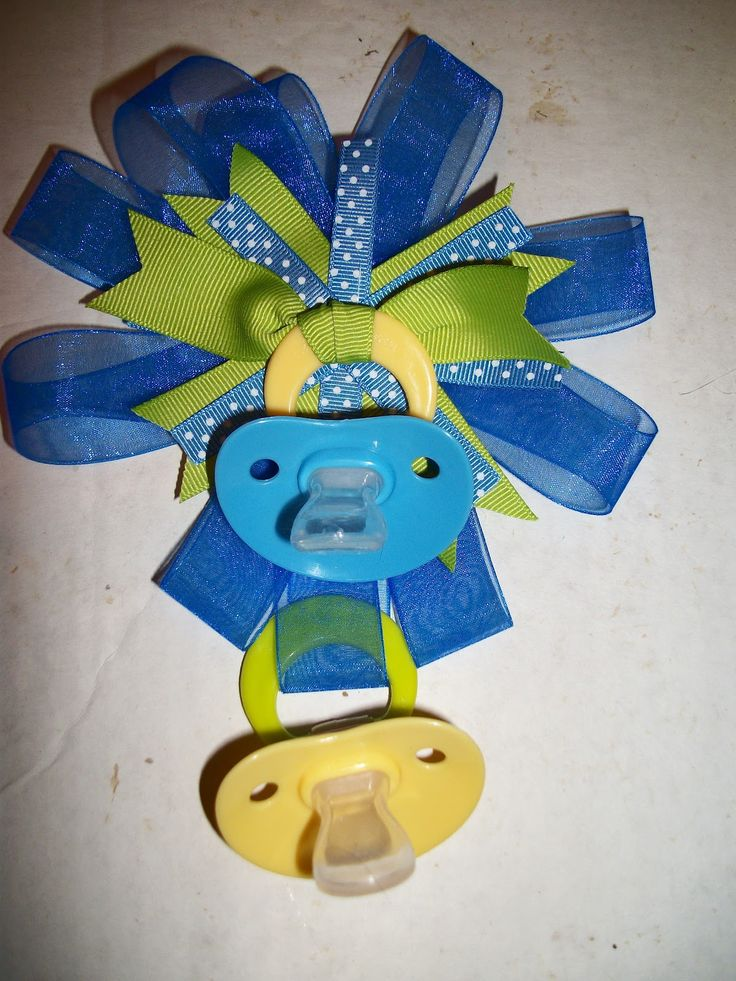 Easy pacifier corsage for baby shower