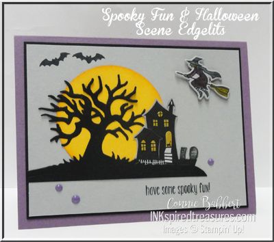 """Some """"non-traditional"""" colors for our Halloween Colors Saturdy Blog Hop today over on Create with Connie and Mary!  Check out what the rest of the Design Team has done!  Connie Babbert, www.inkspiredtreasures.com, #stampinup, #inkspiredtreasures, #halloween"""