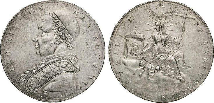 NumisBids: Numismatica Varesi s.a.s. Auction 65, Lot 844 : LEONE XII (1823-1829) Scudo 1825 II, Roma. Al R/ raggi fini. ...