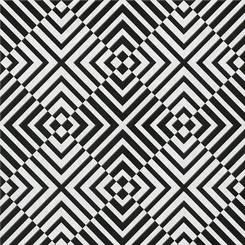 The Hypnotist Wallpaper In Mono By Barbara Hulanicki For Graham Brown Black And White