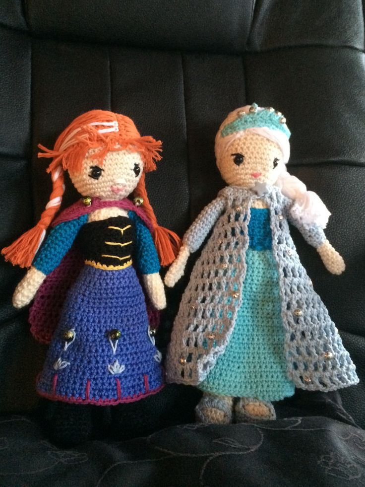 Elsa og Anna til Amanda