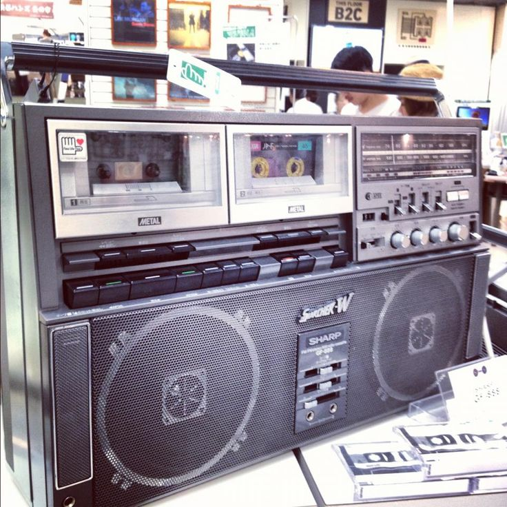 double tape deck boom box!-I had one too and Bought it with my own money!