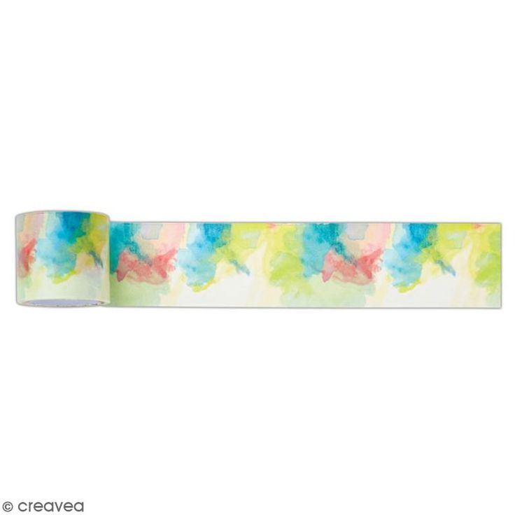 Ruban adhésif décoratif Papermania - Collection Elements Pigment - Mix couleurs - 3 m x 3,1 cm