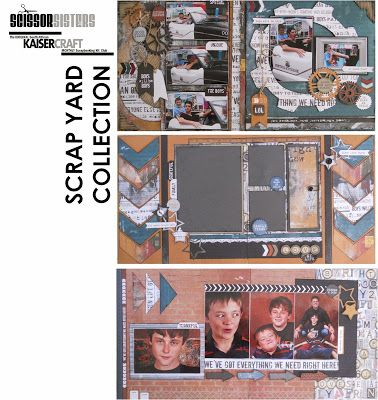 Kaisercraft Scrap Yard Kit.  Scissor Sisters.