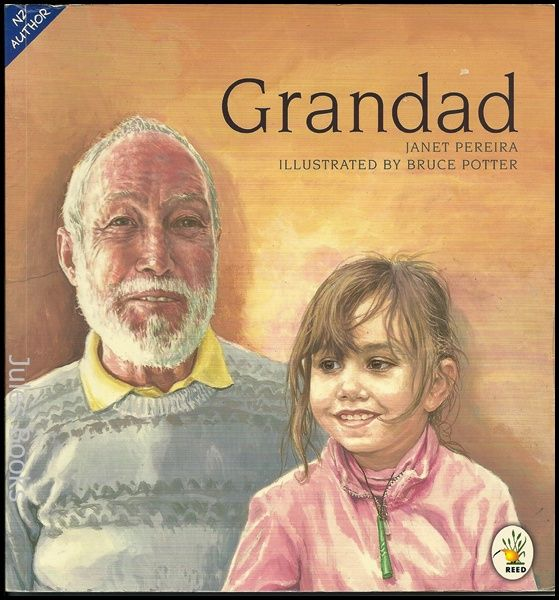 """Grandad"", by Janet Pereira ; illustrated by Bruce Potter - A young girl relates how her family respond to her grandfather's illness and death and bring to the funeral responses from a variety of cultures. Includes a glossary of words related to death and funerals."
