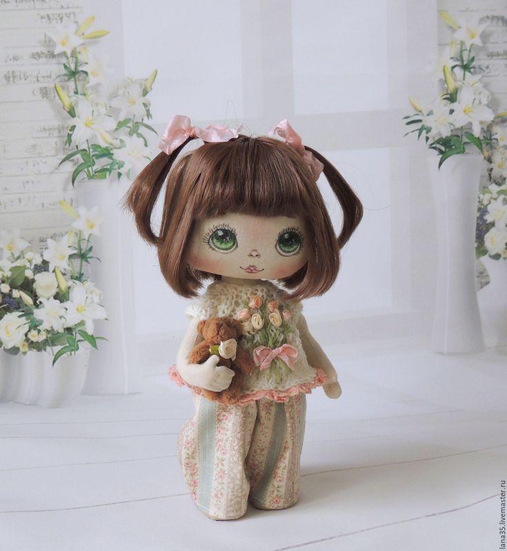 Купить Малышка - бежевый, интерьерная кукла, текстильная кукла, коллекционная кукла, авторская ручная работа