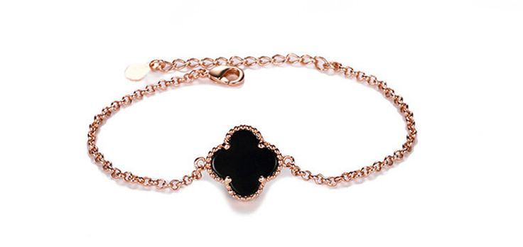 Find More Chain & Link Bracelets Information about zenper rose gold four leaf bracelet female models fashion version of the simple silver jewelry allergy resistant jewelry MX01,High Quality jewelry doll,China jewelry phone Suppliers, Cheap jewelry box necklace holder from Yiwu zenper accessories crafts co.,ltd  on Aliexpress.com