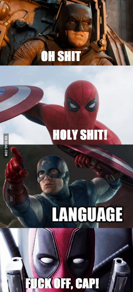 Our Favorite Superheroes Swear