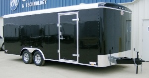 2013 8.5 ' x 20 ' Steel Black Enclosed Car Trailer by Cargo Mate