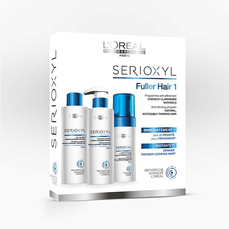 L'Oréal Professionnel Serioxyl Fuller Hair 1 Anti-thinning program for Natural,Noticeably Thinning Hair.