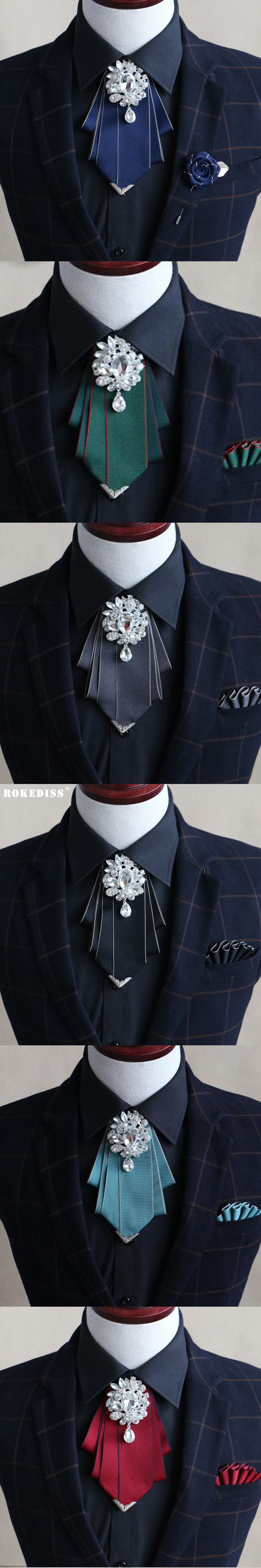 ROKEDISS 2017 groom groom wedding uniforms wedding tie British wedding dress collar men dress up high-grade diamond bow tie Z267