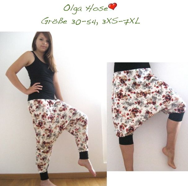 Olga♡ ebook Hose 30-54 Nähanleitung Schnitt Jod  Lounges und ...