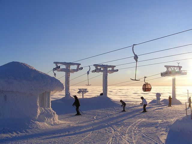 Ylläs, Lapland, Finland. I'm there next week...