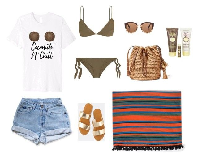 Coconuts N' Chill Summer Beach or Pool Day Outfit by wrdmkrs on Polyvore featuring Max&Co., Levi's, Marios Schwab, Marni and Sun Bum