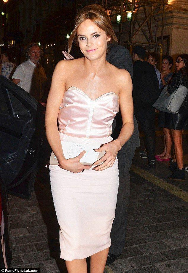 Hannah Tointon looks cute in a sleek pastel dress to support boyfriend Joe Thomas at The Inbetweeners 2 premiere