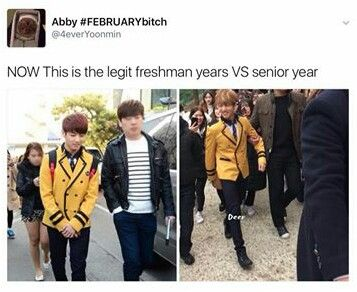 He was so shy and then in his senior year acting like the fucking boss of the school