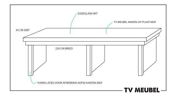 Miranda maakt een tv-meubel voor in de woonkamer van Ons Eigen Huis. Een ontzettend simpel ontwerp, maar des te praktischer! Dat het meubel ook nog eens heel makkelijk te maken is, lees je hieronder!