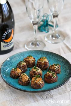 Stuffed Mushrooms with Sausage & Breadcrumbs | allParenting.com #appetizer #recipe