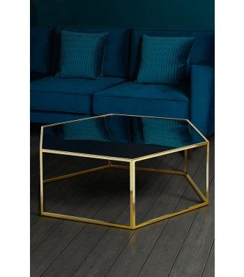 Alveare brass and antique mirror coffee  table