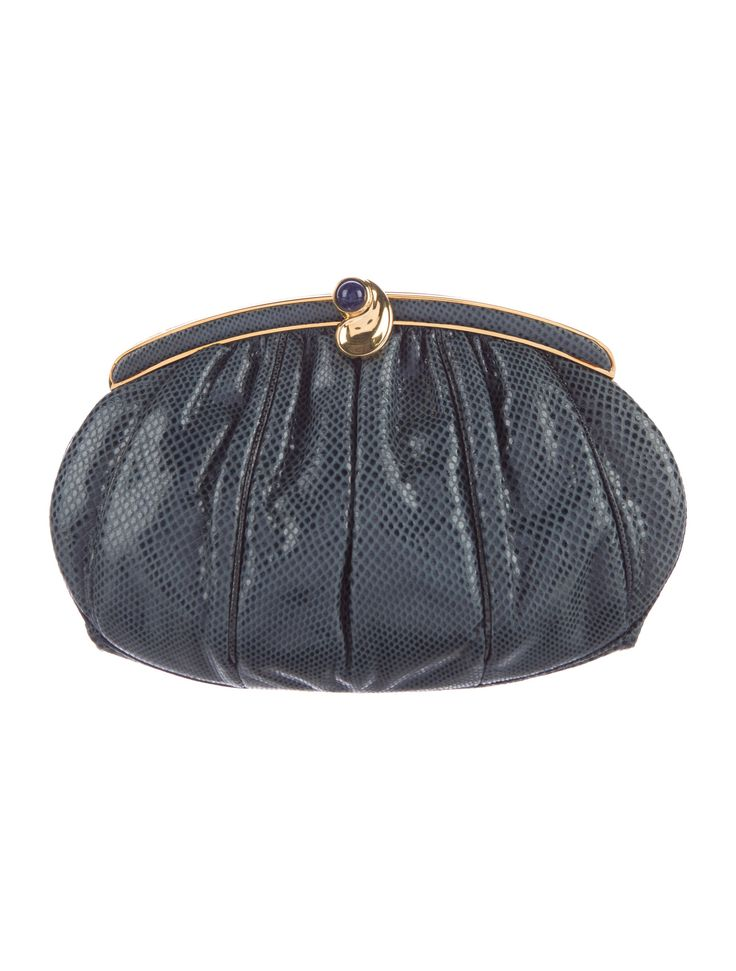 Pleated Karung Frame Clutch