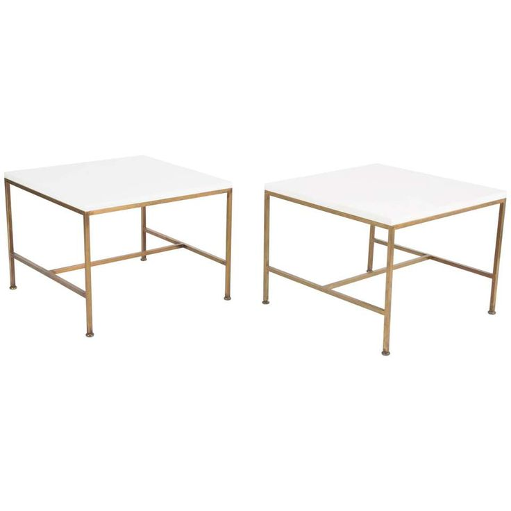 pair of paul mccobb side tables with vitrolite glass tops forcalvin