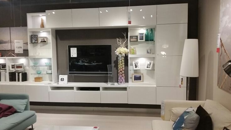 Ikea besta tv wall unit gloss white home pinterest for Besta tv unit ikea