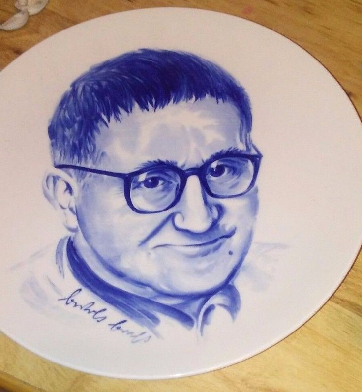 Bertolt Brecht wall plate famous Russian poet collectible decor #MM