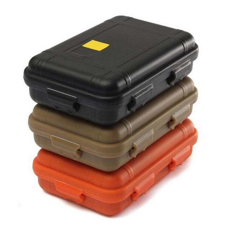 2016 New Outdoor Shockproof Waterproof Box Survival Case Containers For Storage Travel Kit EDC Tool Sealed Boxes