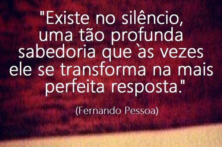 O silêncio é a melhor resposta...