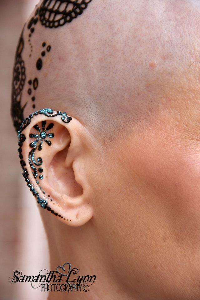 Ear henna is awesome! *Copyright Harris' House of Henna & Body Art 2012 & Samantha Lynn Photography