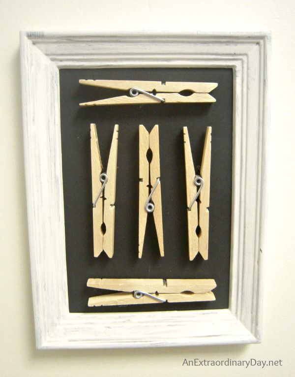 Graphic Clothespin Art :: Laundry Room Decor :: AnExtraordinaryDay.net