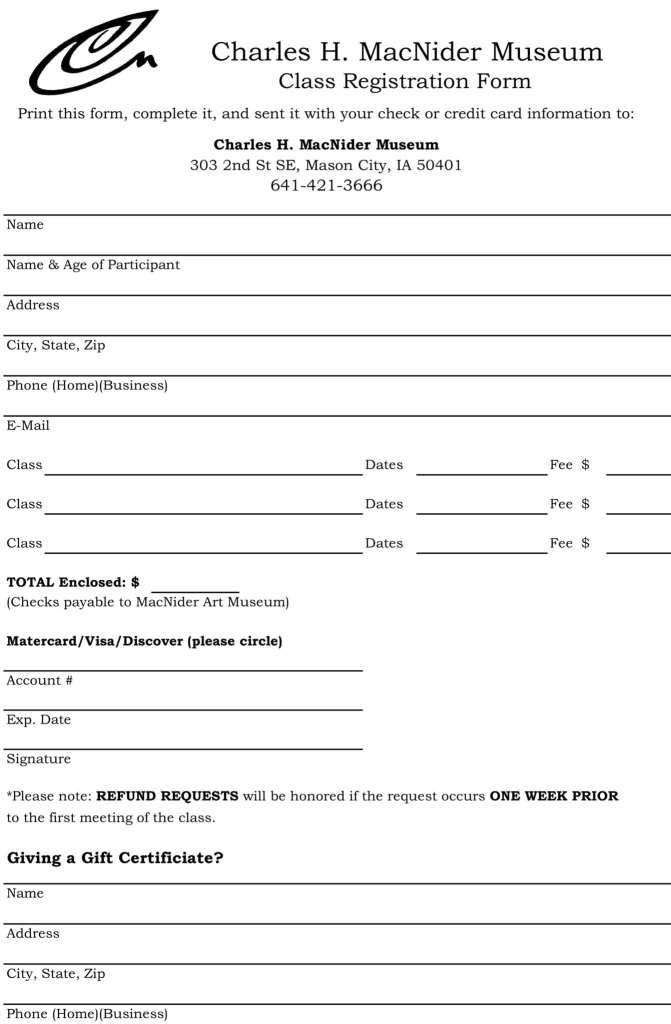 Registration Form Templates Word Excel Fomats Word Free