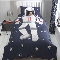When I Grow Up - Spaceman - Toddler Cot Bed Junior Kids Duvet Cover Bedding Set