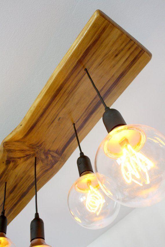 Wooden Pendant Light Live Edge Reclaimed Wood Wooden Ceiling Lamp Wood Light Fixture Wooden Industrial Light Wood Ceiling Lamp Wooden Pendant Lighting Modern Pendant Lamps