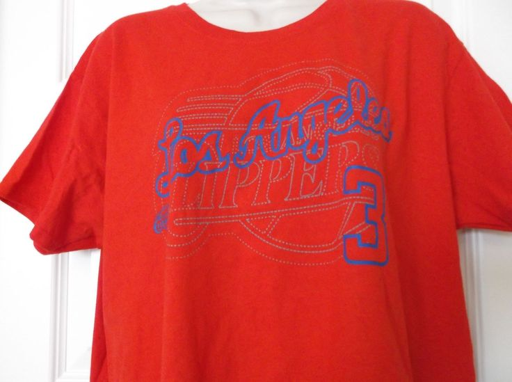 NWT LADIES NBA RED LOS ANGELES CLIPPERS #3 PAUL T SHIRT  SIZE XL