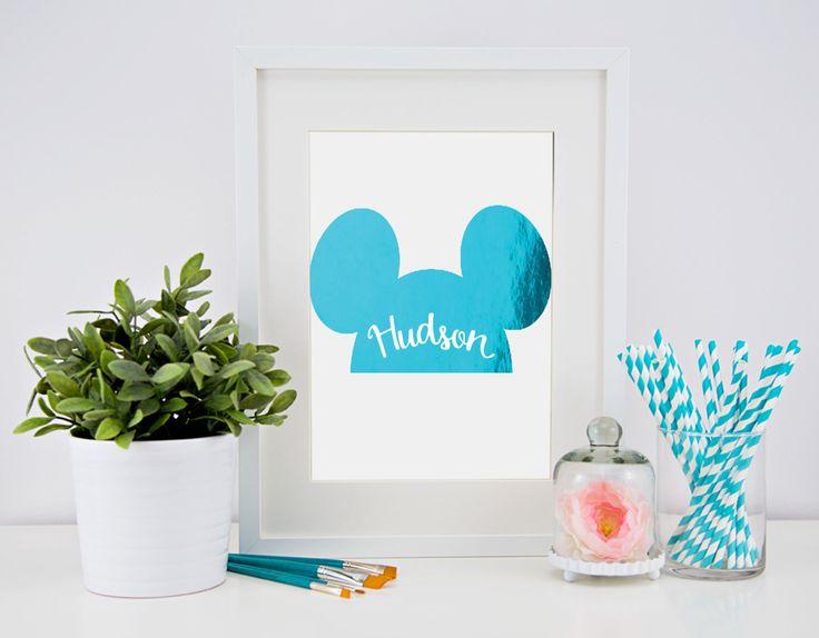 Real foil print - custom Mouse ears by CheekyLittleMoo on Etsy https://www.etsy.com/au/listing/258945497/real-foil-print-custom-mouse-ears