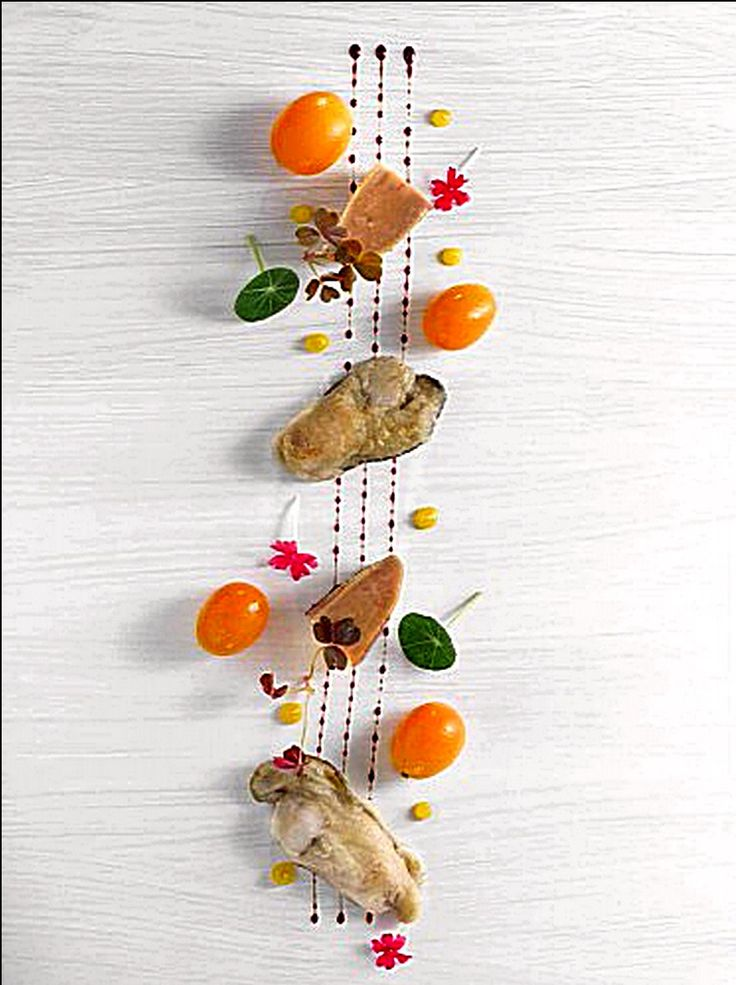 Aujourd'hui, beaucoup de circulation sur la route pour aller au restaurant ! ;) (Huîtres kumquat par Nicolas Masse) L'art de dresser et présenter une assiette comme un chef de la gastronomie... http://www.facebook.com/VisionsGourmandes . > Photo à aimer et à partager ! ;) #gastronomie #gastronomy #chef #recette #cuisine #food #visionsgourmandes #dressage #assiette #art #pornfood #foodporn #photo #design #foodstyle #foodart #recipes #designculinaire #culinaire #artculinaire #presentation