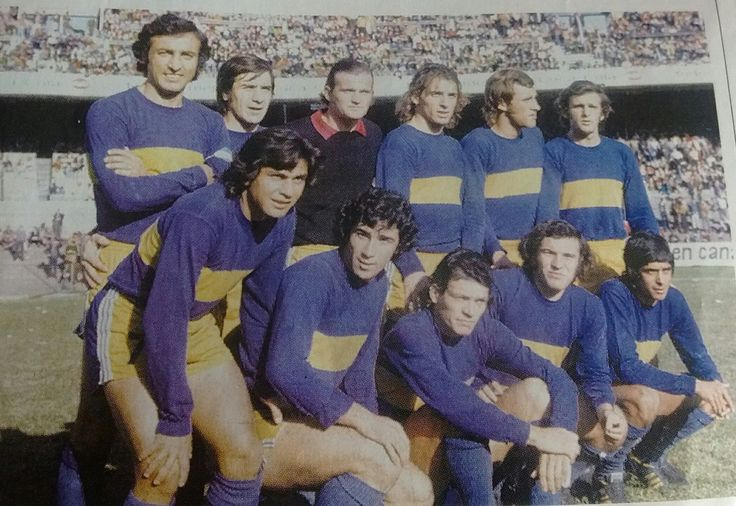 #BocaJuniors - 1973 - Rogel, Pachamé, Sánchez, Pernía, Mozo, Ovide, Ponce, Benítez, Curioni, Potente, Guerini