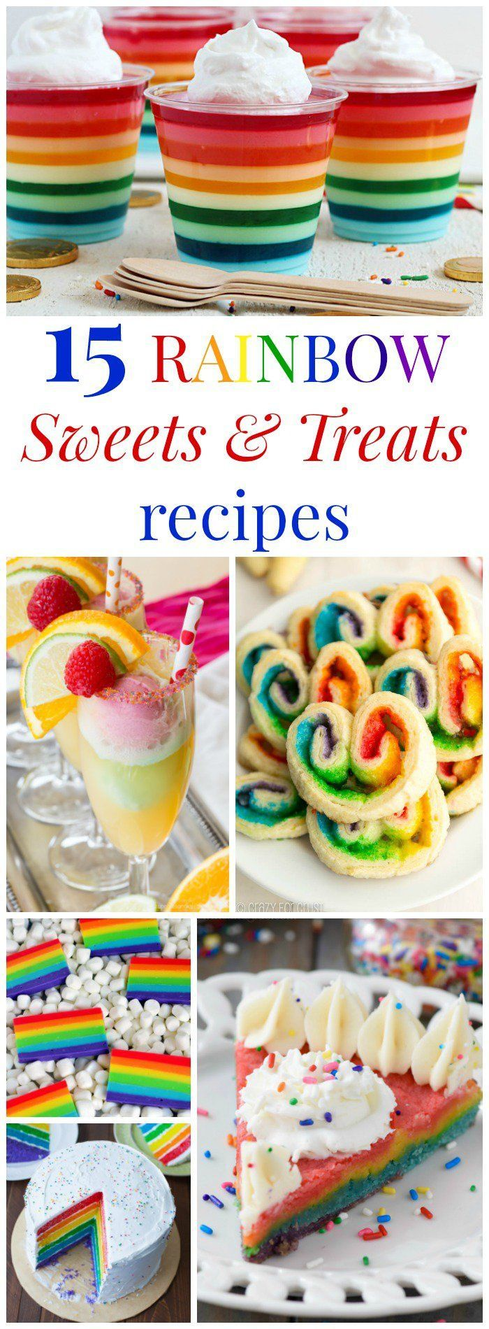 15 Rainbow Sweets and Treats - colorful dessert recipes for birthdays, St. Patrick's Day, and more!